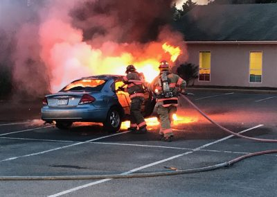 Car Fire at Mapleshire